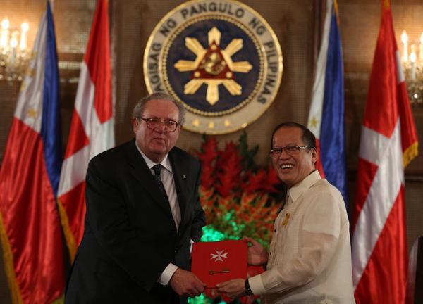 Aquino thanks Order of Malta for shelter of Yolanda survivors